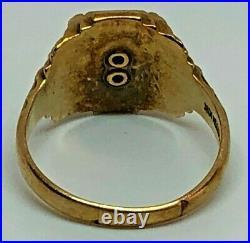 Vintage Jostens Hilton High School Class Of 1961 Men's Ring 10k Gold Sz 7 1/2
