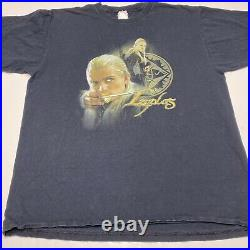Vintage Lord Of The Rings Movie Legolas Orlando Bloom Shirt Large