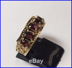 Vintage Mans 14k Yellow Gold Braided Rope Ring Sz 8.5 Mens Unisex