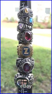 Vintage Men And Women Antique High School Class Rings And Championship Ring Lot