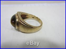 Vintage Men's 10K Gold Tiger Eye Ring