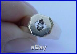 Vintage Men's 14K Yellow Gold Diamond Ring Size 9 6.3 Grams