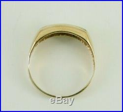 Vintage Men's 14k Yellow Gold. 45 CTW Diamond Ring Size 11.5
