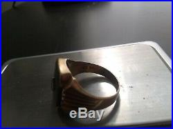 Vintage Mens 10K Yellow Gold Black Onyx & Diamond Ring Size 11- 7.4g