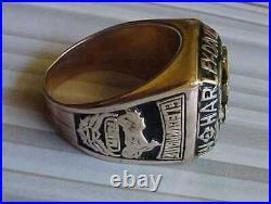 Vintage Mens 10k Gold Harley Davidson Electraglide Motorcycle Club Ring Size 14