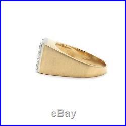 Vintage Mens 14k Gold 1.3ctw 5 Diamond Dice Ring with Appraisal Sz 12.5