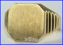 Vintage Mens 14k Gold Signet Ring Size 8 8.6 Grams