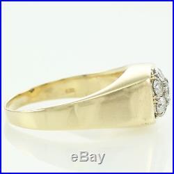 Vintage Mens Heavy 14K. 75 CT DIAMOND CLUSTER RING 9.7g $2950 Appraisal Sz 10.5