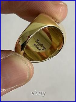 Vintage Mens Little Caesars Employee Ring 14k Gold 21 Grams Size 9 Diamond