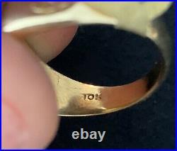 Vintage Mens Masonic Ring 10K Gold G