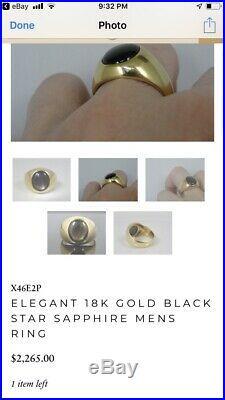 Vintage Mens SZ 11.5 18K Solid GOLD