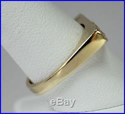 Vintage Modernist Asymmetrical 14K Yellow Gold Men's Ring 22K Gold Nuggets sz10
