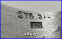 Vintage Modernist Brutalist Sterling Silver Ring Mens Unisex Designer Australian