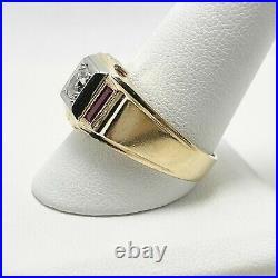 Vintage Natural Diamond 14k Gold Men's Ring (5431)