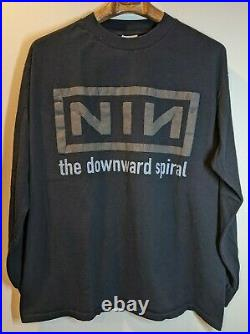 Vintage Nine Inch Nails NIN The Downward Spiral Self Destruct 1994 Halo Eight XL
