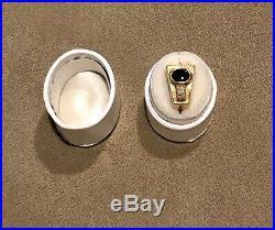 Vintage Onyx, Diamond Mens 14k Yellow Gold Ring Size 7.25