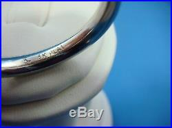 Vintage Platinum & 18k Yellow Gold Men's Braided Thin Comfort Fit Band, Size 10