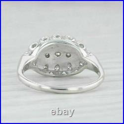 Vintage Ring With 2.00 CT Round Diamond Princess Ring 14K White Gold Finish Halo
