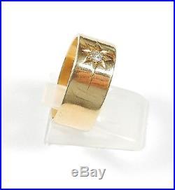 Vintage Single Diamond Ring 18 carat Gold Birmingham 1916 Gents Mans Band