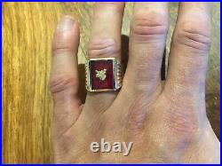 Vintage Solid 10k Yellow Gold Men'S Classic Ring