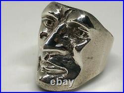 Vintage Sterling Silver Heavy Men Ring