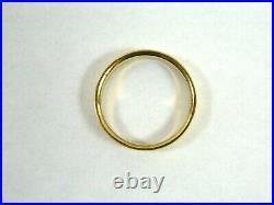 Vintage Tiffany & Co. 18K 750 Yellow Gold Men's Wedding Band Ring 4 mm 5.2 gram
