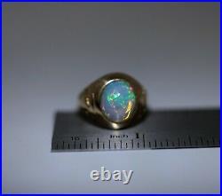 Vintage Tiffany & Co Opal Pinky Men's 14K Gold Ring