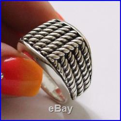 Vintage USed David Yurman Men's Maritime Rope Sterling Silver Ring Size 12