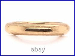 Vintage Wedding Ring Band Mens/Ladies Antique 1897 Victorian 18K Yellow Gold