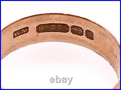 Vintage Wedding Ring Band Mens/Ladies Antique Victorian Rose Gold