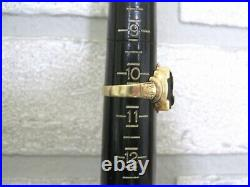 Vntg Estate Men's Carved Intaglio 10K Y. Gold Ring Roman Soldier Warrior sz 10.5