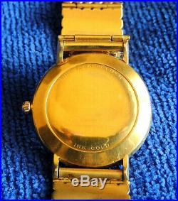 WITTNAUER LONGINES 18k Gold Automatic Ultra-Chron Watch withband and ring VINTAGE